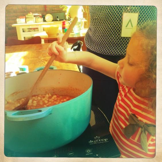 stirring the harira