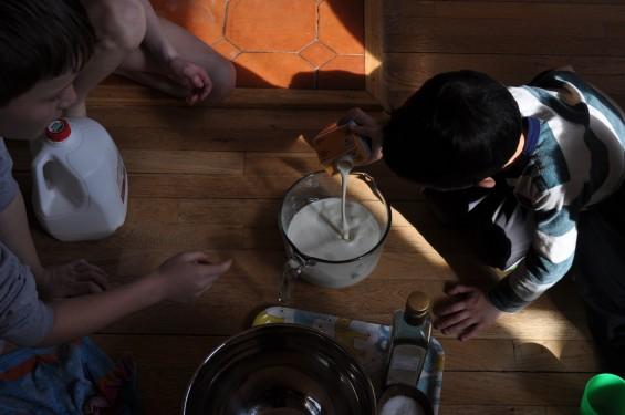 making ricotta 2