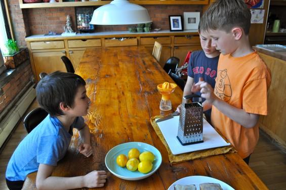 grating and juicing lemons
