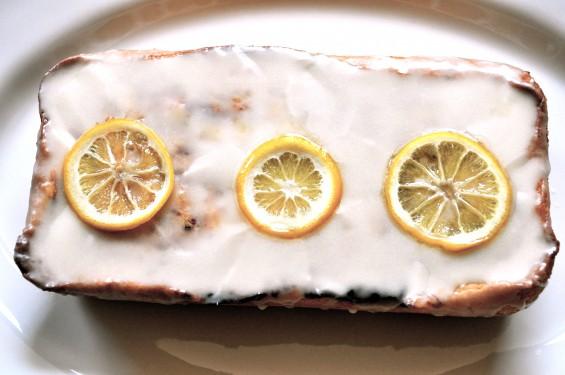 lemon ricotta and raspeveryy jam tea cake