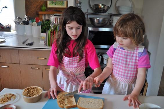 making tea sandwiches