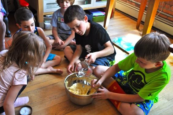 forming the tortilla dough